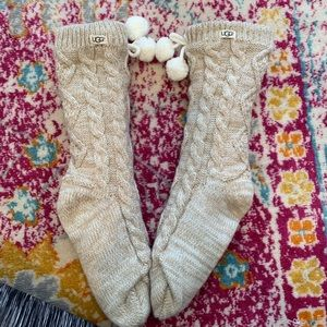 UGG Pom Pom fleece lined socks